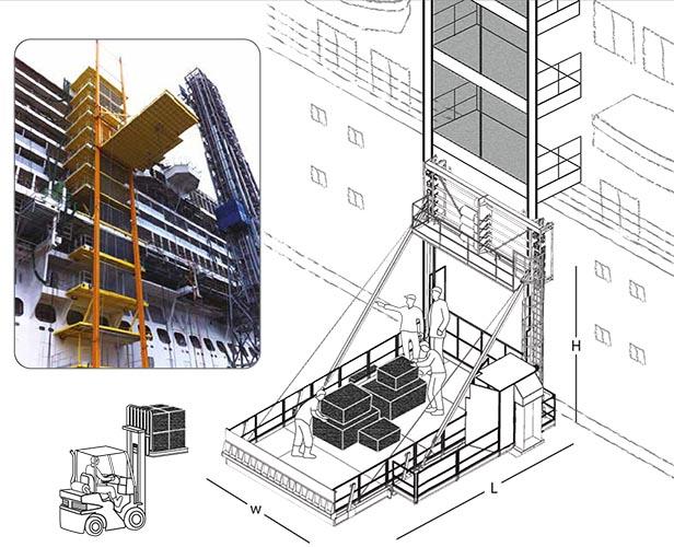 Monte-charges de chantier El System EL200/EI300