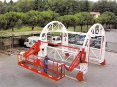 Plateforme spéciale pour galerie et tunnel