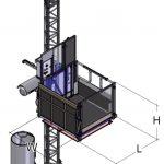Monte-charges de chantier Delta MC PC