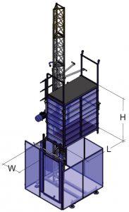 Ascenseur de chantier pour personnes et matériaux Gamma AS