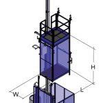 Ascenseur de chantier pour personnes et matériaux Junior AS