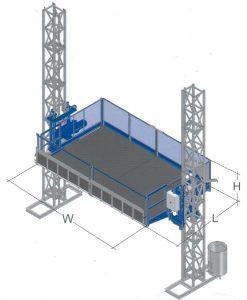 Monte-matériaux monte-charges Vision MC/PC